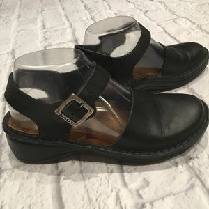 NAOT Black Leather Shoes Sz 37